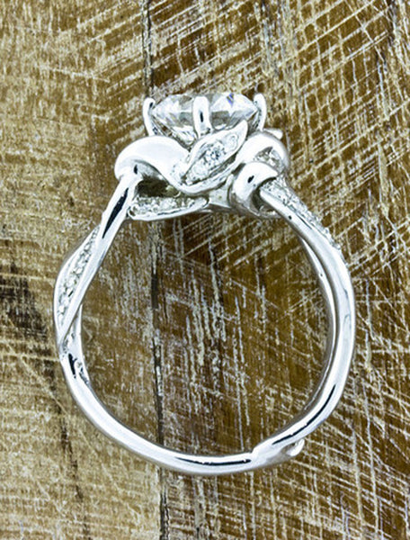 2 ct nature inspired split shank diamond engagement ring