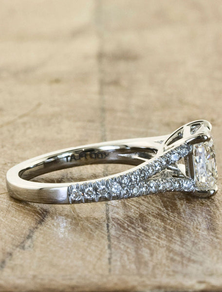 Unique Custom Engagement Rings by Ken & Dana Design - Eloise side view