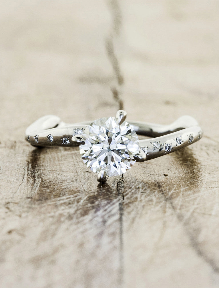 Unique engagement ring - Aurora Diamonds