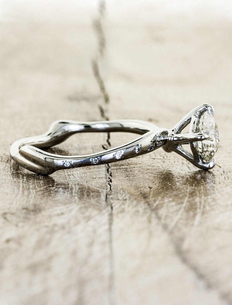 Organic design engagement ring - Aurora Diamonds