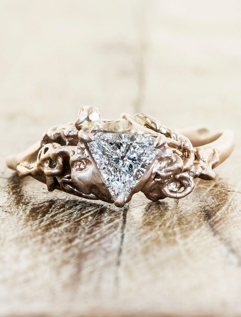 Custom trillion Engagement Rings by Ken & Dana Design - Suzanna top view