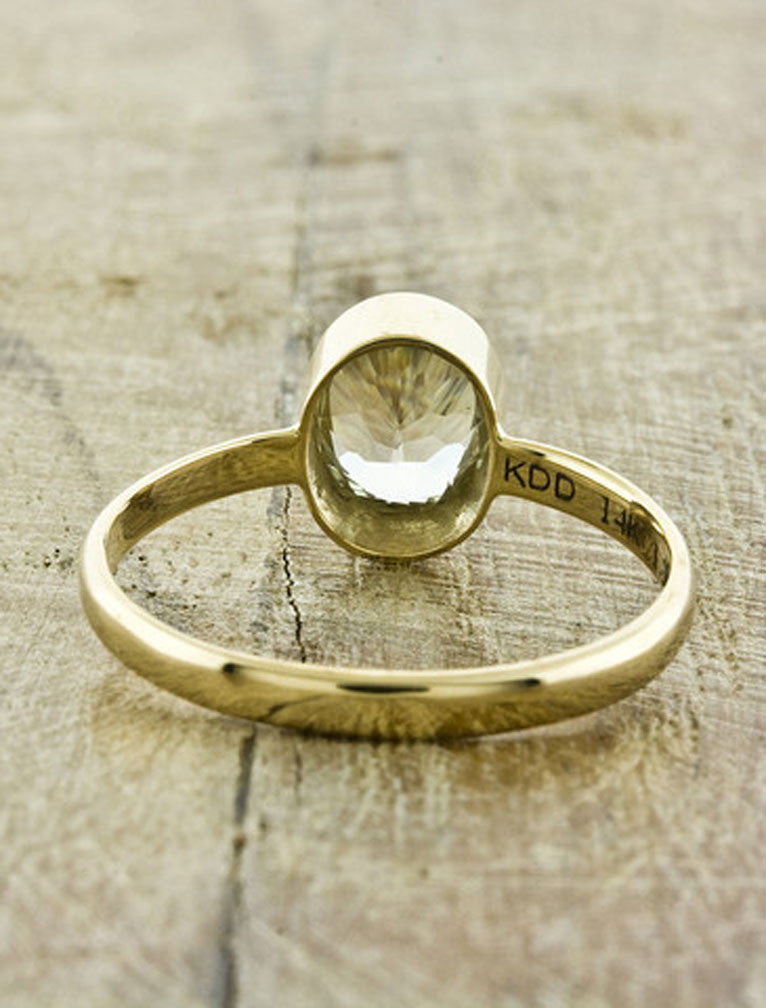Unique Engagement Rings by Ken & Dana Design - Daffodil back view