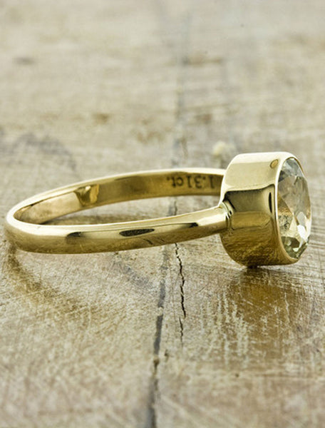 Unique Engagement Rings by Ken & Dana Design - Daffodil side view