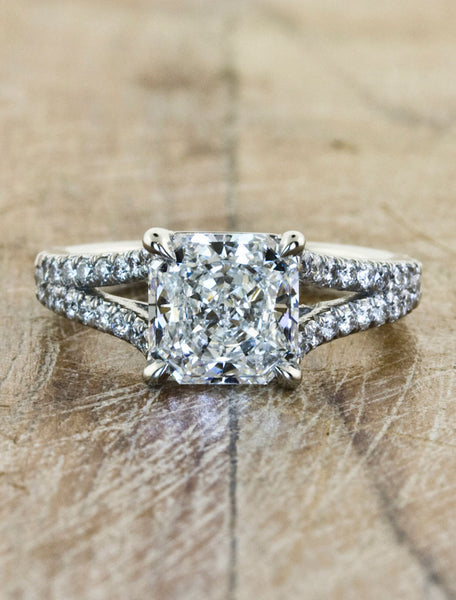 Unique Custom Engagement Rings by Ken & Dana Design - Eloise top view