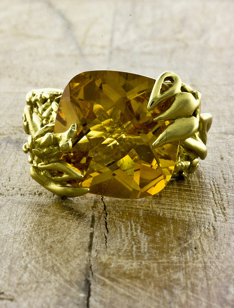 Nature Inspired Citrine Ring | Ken & Dana Design