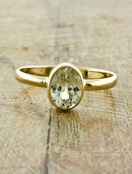 Unique Engagement Rings by Ken & Dana Design - Daffodil top view
