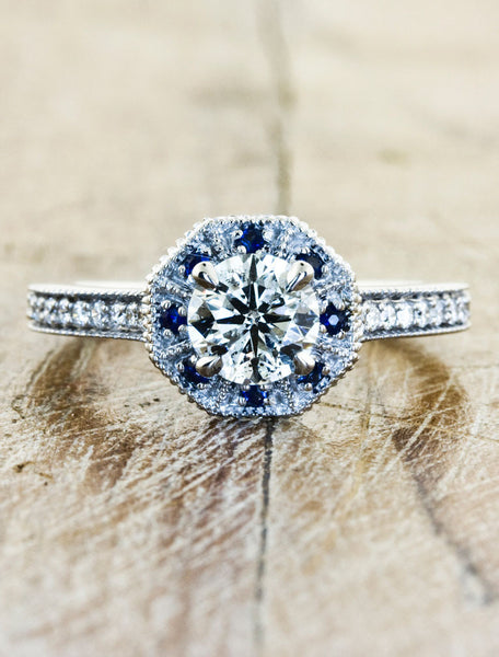 Unique Custom Engagement Rings by Ken & Dana Design - Danielle top view