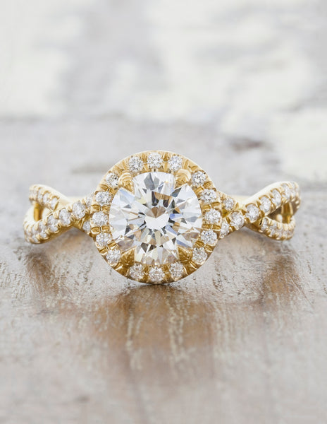 caption: 1.00ct. Round Diamond 14k Yellow Gold