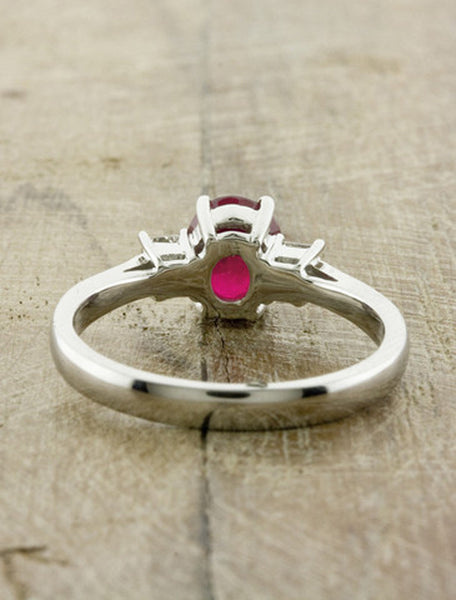 Multi Stone Ruby Engagement Ring