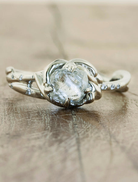 Rough Diamond Engagement Rings Ken & Dana Design - Dayacaption:Rough Diamond Platinum