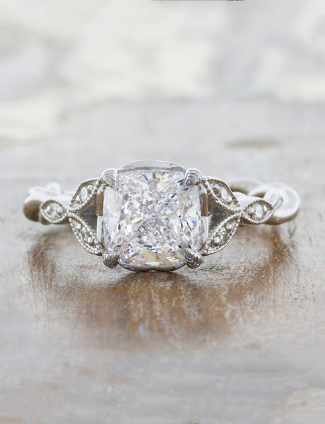 caption: 1.51ct. Cushion Diamond Platinum