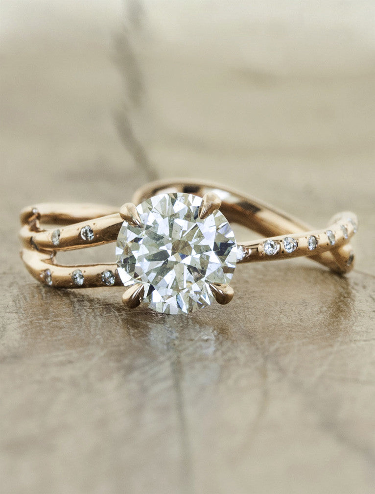 Rose gold engagement ring by Ken & Dana Design - Melinda