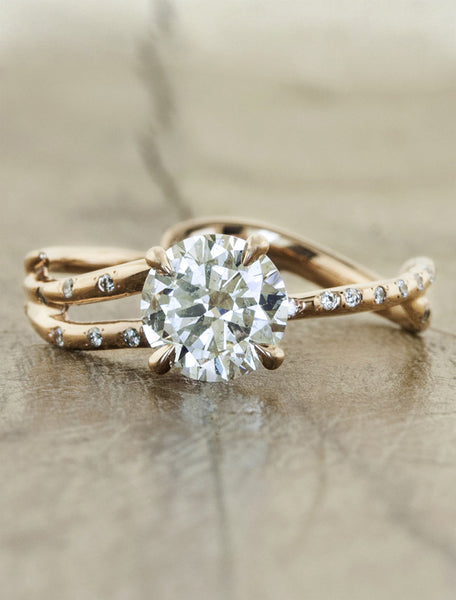 Rose gold engagement ring by Ken & Dana Design - Melindacaption:0.90ct. Round Diamond 14k Rose Gold