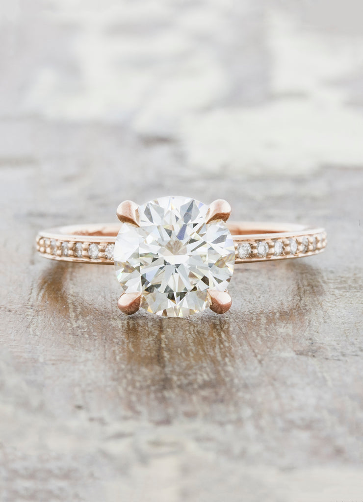 caption:Shown in 14k rose gold with 1.8ct diamond
