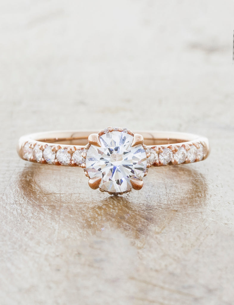 caption: 0.80ct. Round Diamond 14k Rose Gold
