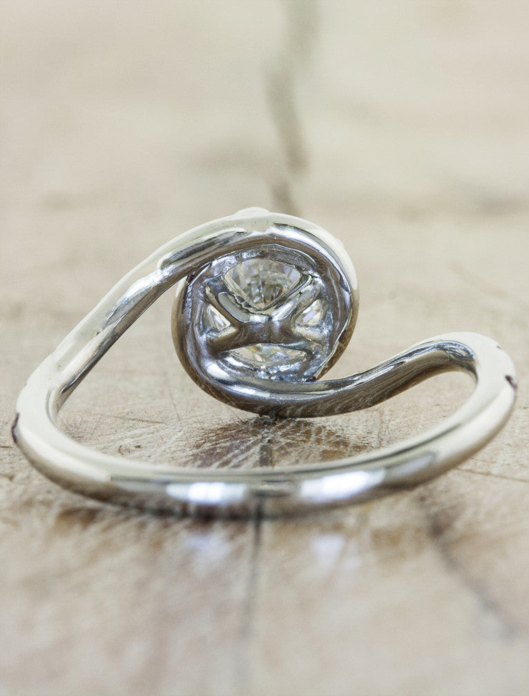 asymmetrical band engagement ring