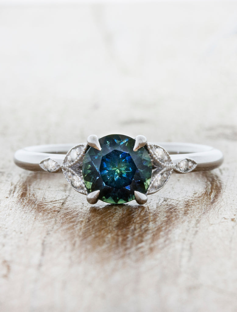 Montana Sapphire Vintage Inspired Engagement Ring