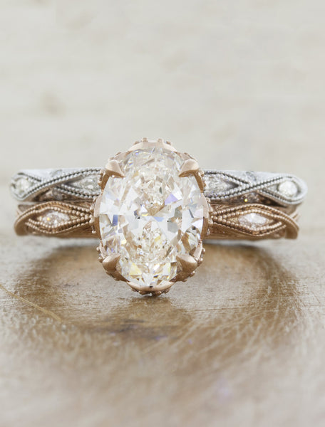 Oval Diamond Vintage Inspired Engagement Ring
