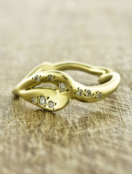 Unique Organic Wedding Bands by Ken & Dana Design - Hera