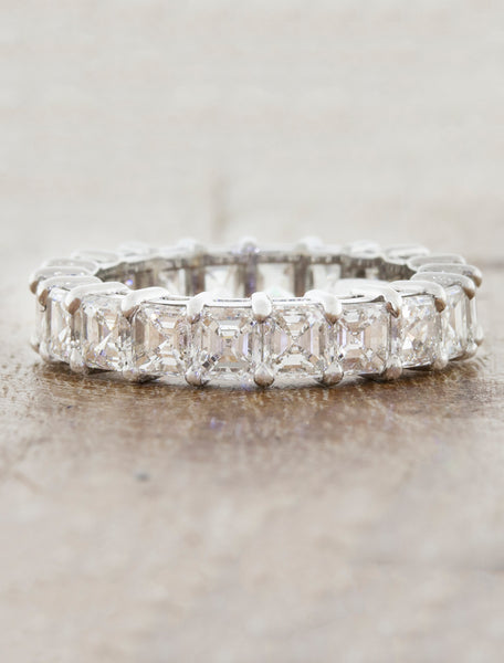 Asscher Diamond Eternity Wedding Ring