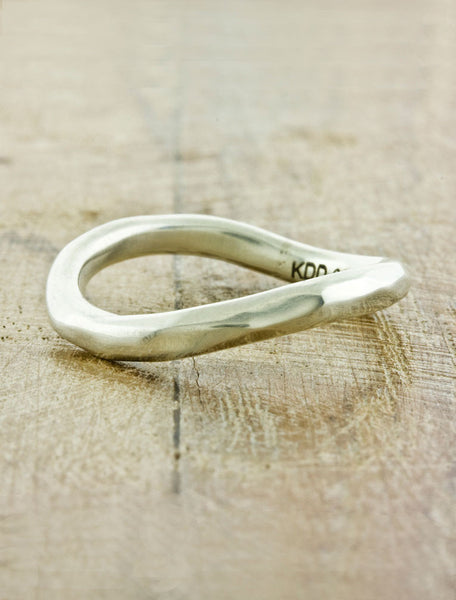Unique Organic Weddings Bands by Ken & Dana Design - Flor