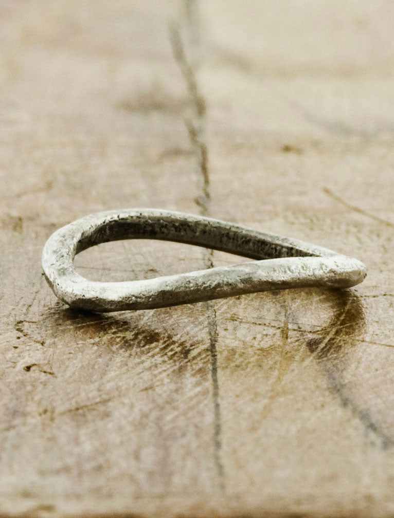modern sculptural wedding ring