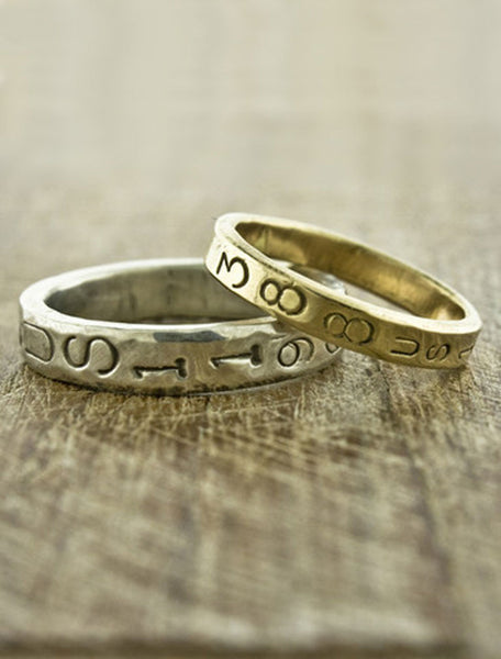 Civil Rights Wedding Bands - Loving v Virginia matching wedding bands