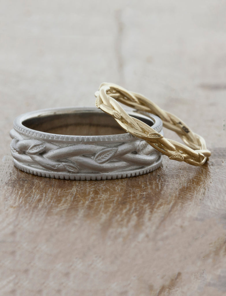 Nature Inspired Wedding Ring