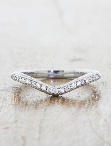 Vintage Inspired Hand Engraved Wedding Ring
