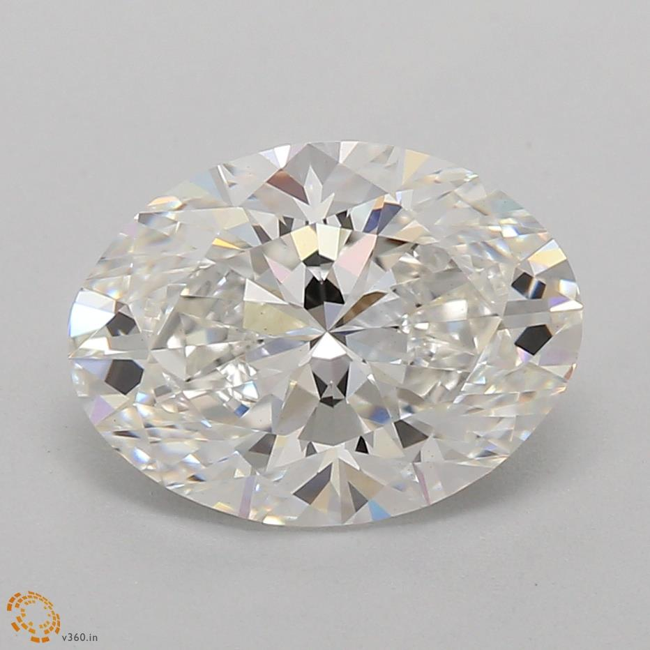 1.58 Carat Oval Lab Grown Diamond