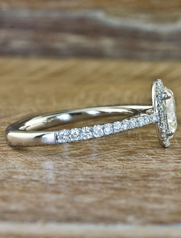 Custom Engagement Rings by Ken & Dana Design - Verity side view