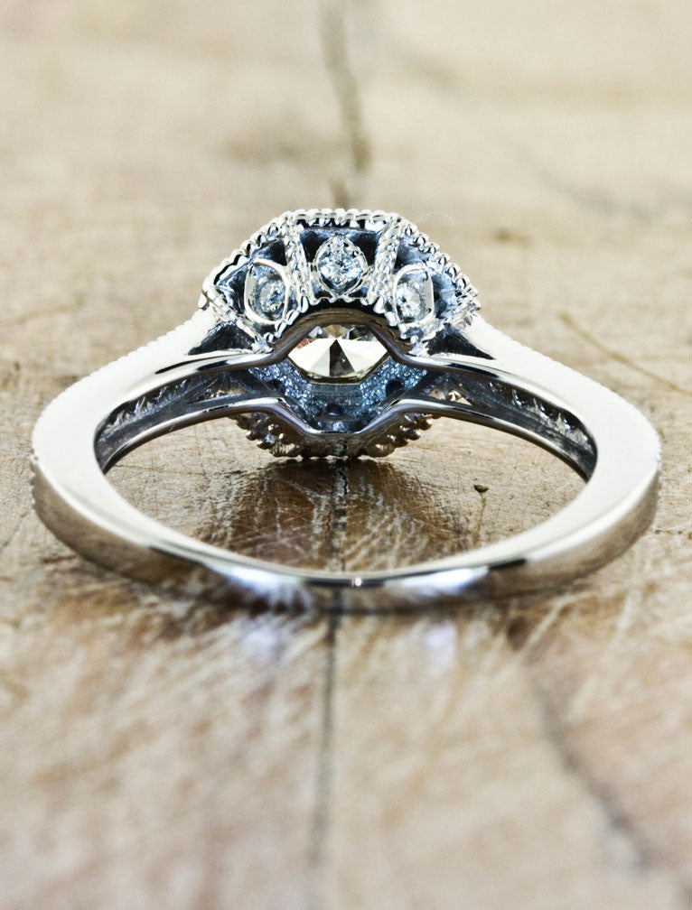 Unique Engagement Rings by Ken & Dana Design - Danielle back view