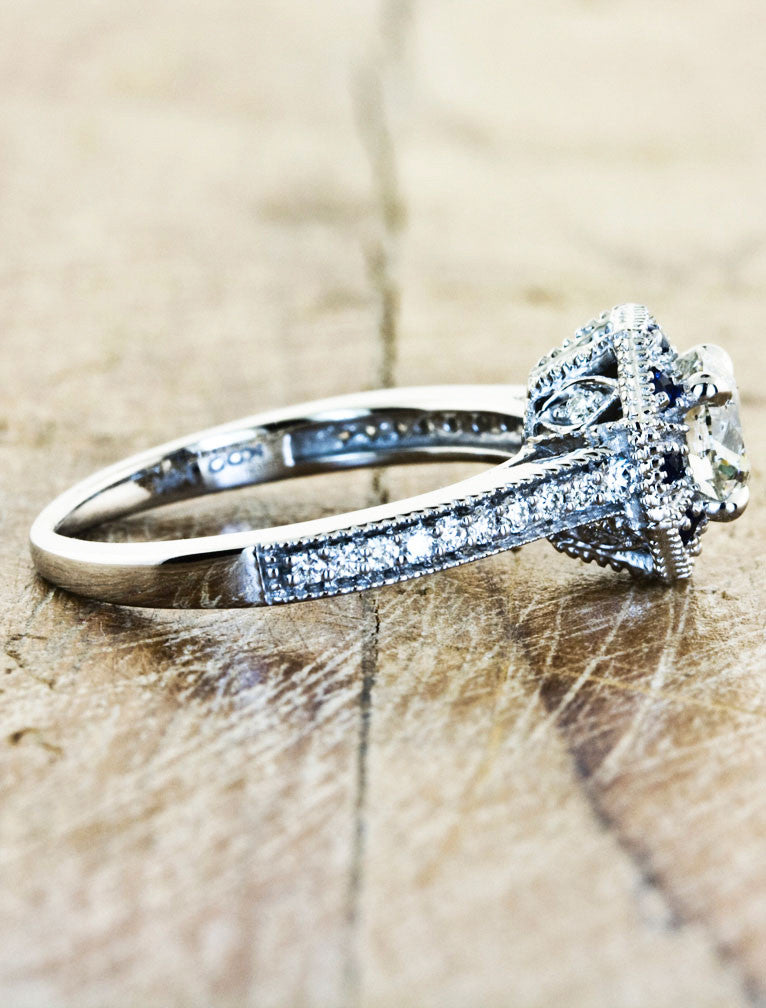 Unique Engagement Rings by Ken & Dana Design - Danielle side view