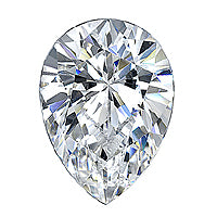 1.00 Carat Pear Diamond
