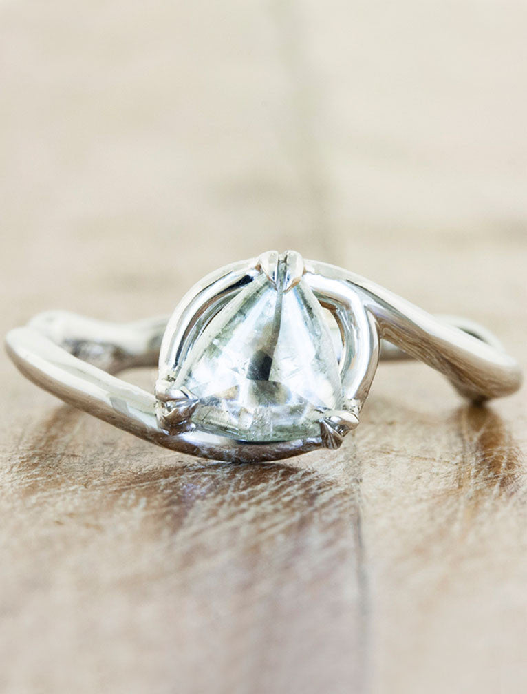 1.25 ct White Natural Diamond Enhancer Guard Ring in 14k Solid Gold