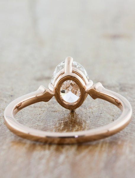 Oval Diamond Ring in Rose Gold