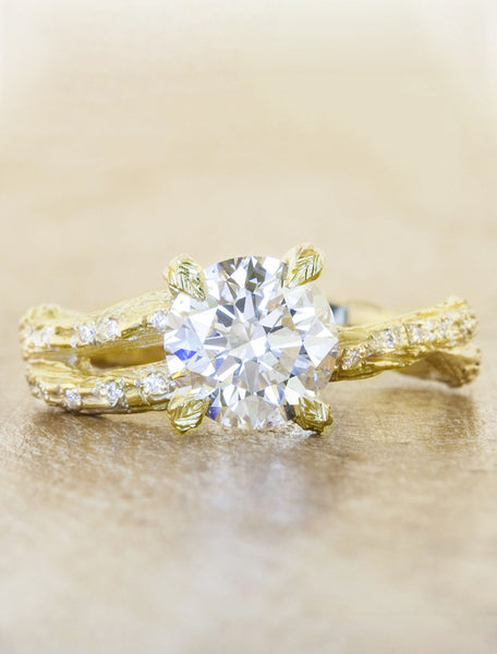 Unique engagement ring - Mable Diamonds caption:1.50ct. Round Diamond 18k Yellow Gold