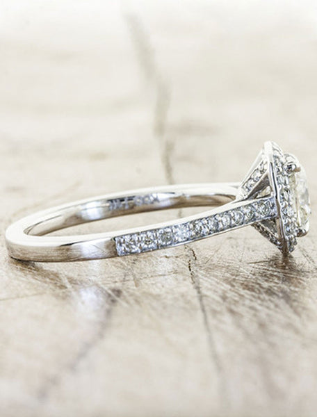 Unique Engagement Rings by Ken & Dana Design - Cora side view