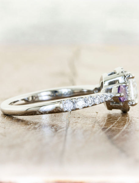 Engagement Rings by Ken & Dana Design - Violetta purple sapphire side view