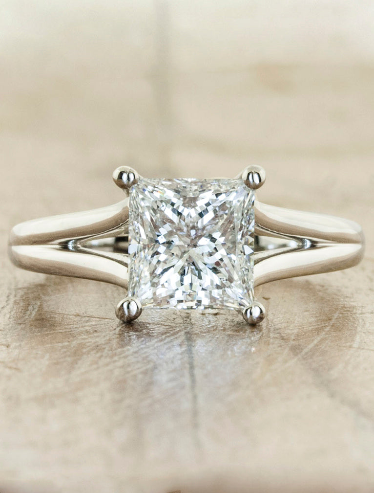 Split Band Princess Cut Diamond Ring