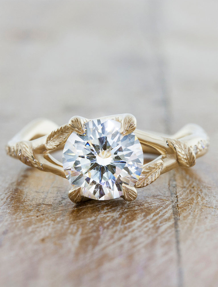 nature inspired engagement ring