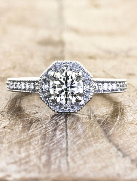 Unique Engagement Rings Ken & Dana Design - Almira top view