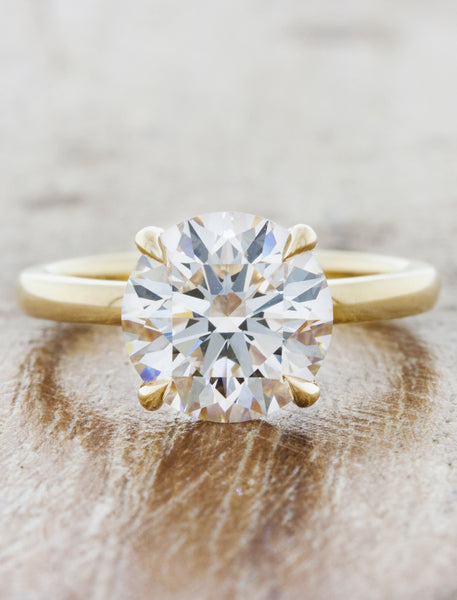 Classic solitaire - Ariya caption:2.00ct. Round Diamond 14k Yellow Gold