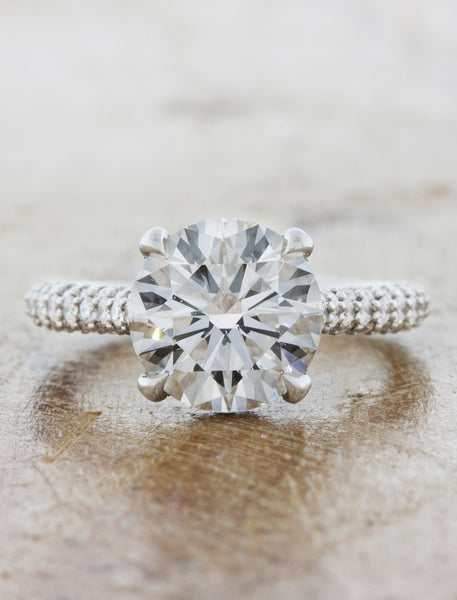 2 ct diamond solitaire in triple pave band