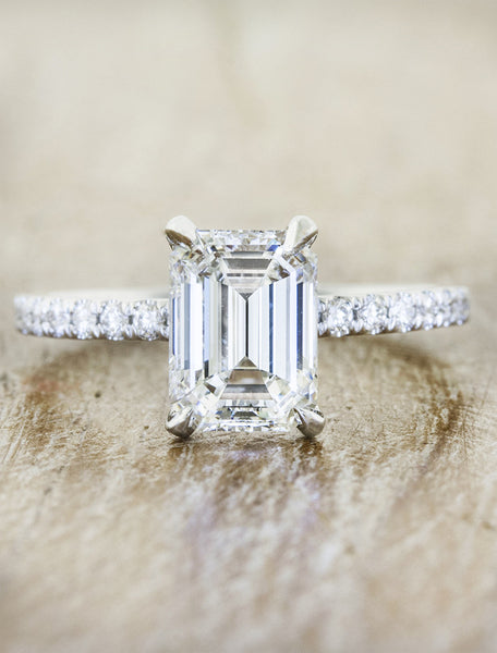 classic emerald cut diamond solitaire engagement ring