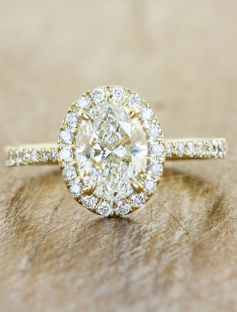 yellow own setmain ring your classic in rd rings build halo jewellery tw engagement diamond gold ct