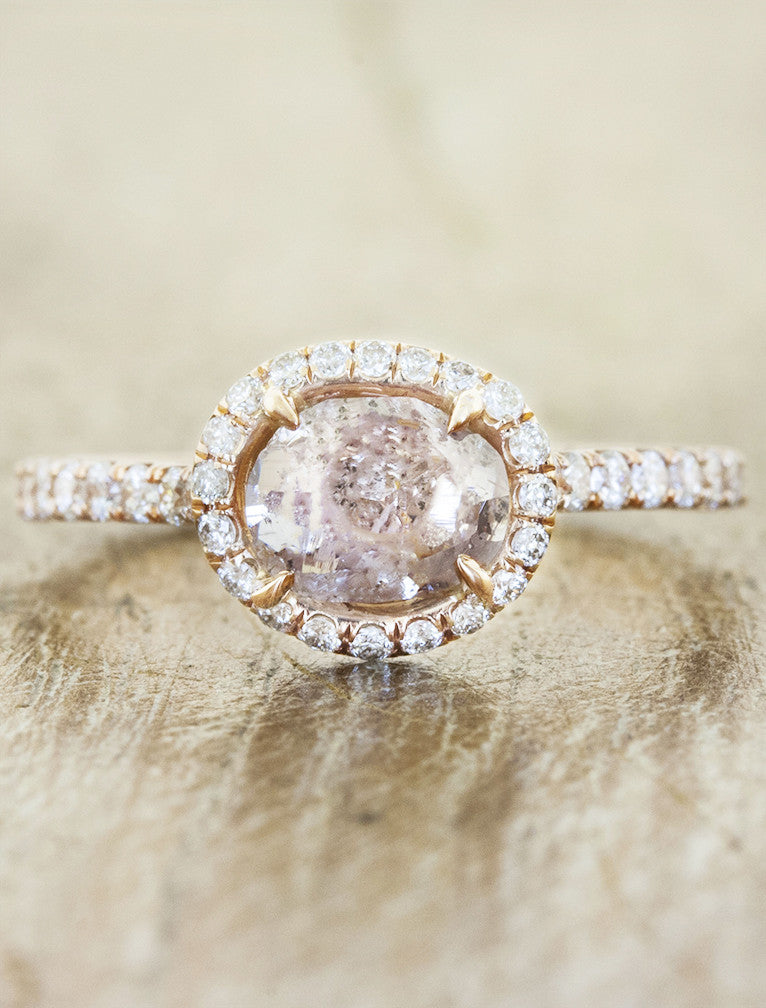 Nature Inspired Rough Diamond Engagement Ring