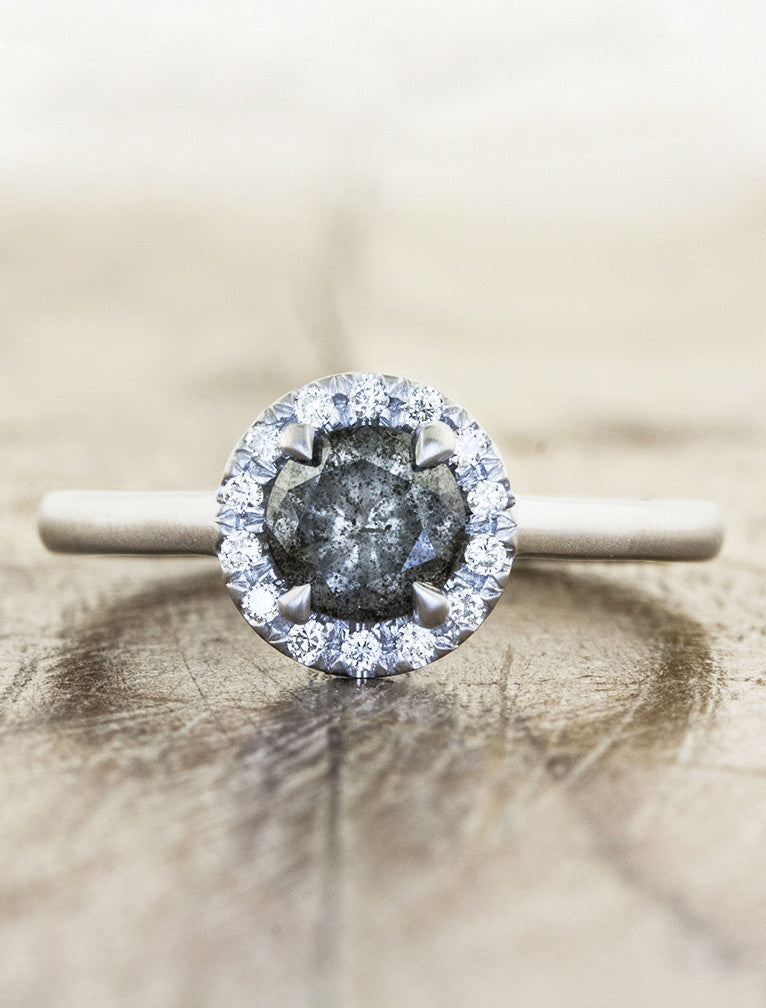 Amanda Grey Rough Diamond Engagement Ring Ken Amp Dana Design