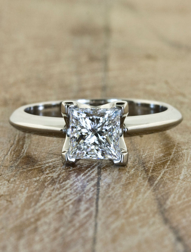 Unique Engagement Rings by Ken & Dana Design - Jonesy top view