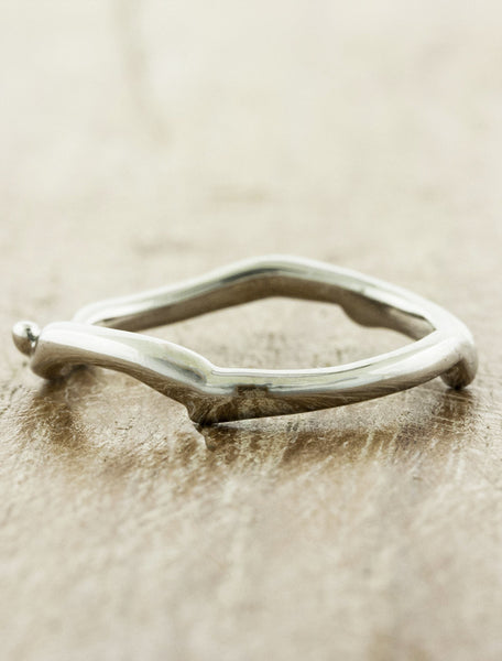 organic, natural shaped weding band